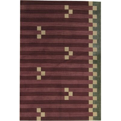 One-of-a-Kind Himalayan Hand-Woven Wool Brown/Green Area Rug