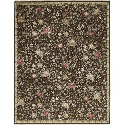 Chantel Hand-Woven Wool Brown Area Rug