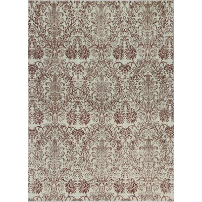 Brookhaven Hand-Woven Wool Ivory/Rust Area Rug