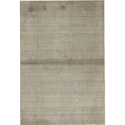 Striped Texture Hand-Woven Brown Area Rug