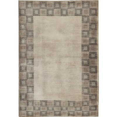 One-of-a-Kind Himalayan Hand-Woven Wool Brown/Beige Area Rug