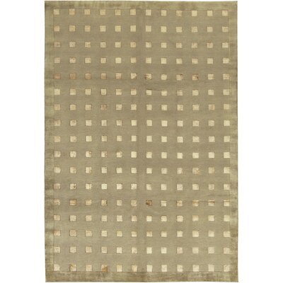 One-of-a-Kind Himalayans Hand-Woven Wool Beige Area Rug