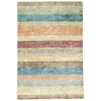 One-of-a-Kind Ecco Hand-Woven Blue/Beige Area Rug