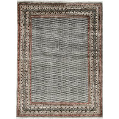 One-of-a-Kind Wool Hand-Woven Wool Gray Area Rug
