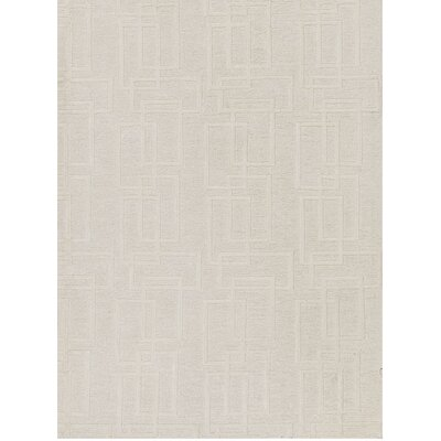 One-of-a-Kind Himalayan Hand-Woven Linen Beige Area Rug