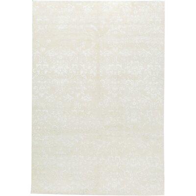 Himalayan Hand-Woven White Area Rug