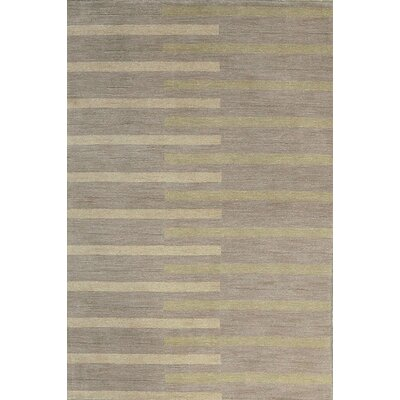 One-of-a-Kind Gabbeh Hand-Woven Wool Gray Area Rug
