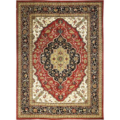 One-of-a-Kind Sultanabad Hand-Woven Wool Red/Blue Area Rug