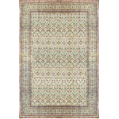 Hand-Woven Wool Red/Ivory Area Rug