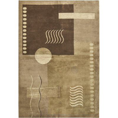 Himalayan Hand-Woven Beige/Brown Area Rug