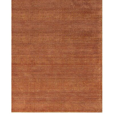 One-of-a-Kind Indian Hand-Woven Rust Area Rug