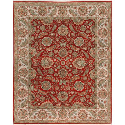 One-of-a-Kind Cornwall Hand-Woven Wool Red/Ivory Area Rug