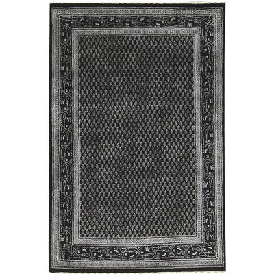One-of-a-Kind Lori Hand-Woven Wool Black Area Rug