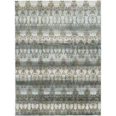 One-of-a-Kind Hamalayan Hand-Woven Light Blue/Brown Area Rug