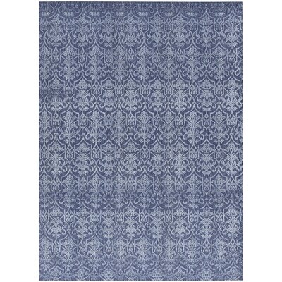 One-of-a-Kind Hand-Woven Dark Blue Area Rug