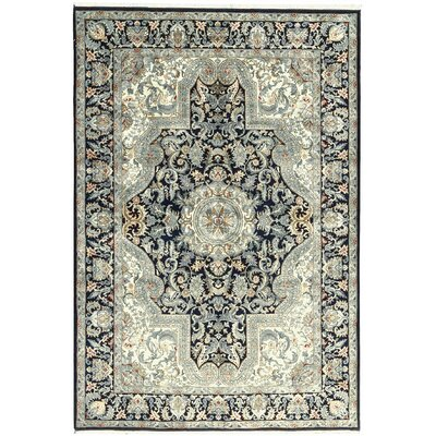 One-of-a-Kind Avalon Hand-Woven Wool Black/Ivory Area Rug