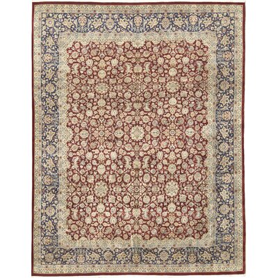 One-of-a-Kind Hand-Woven Wool Beige/Burnt Orange Area Rug