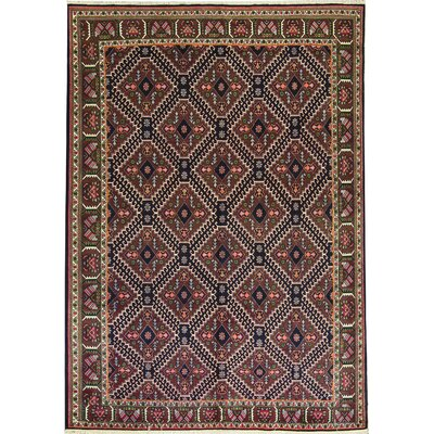 One-of-a-Kind Hand-Woven Wool Brown/Orange Area Rug