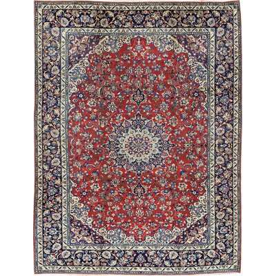 One-of-a-Kind Persian Hand-Woven Wool Red/Ivory Area Rug