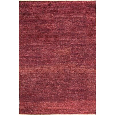 One-of-a-Kind Gabbeh Hand-Woven Wool Wine Area Rug