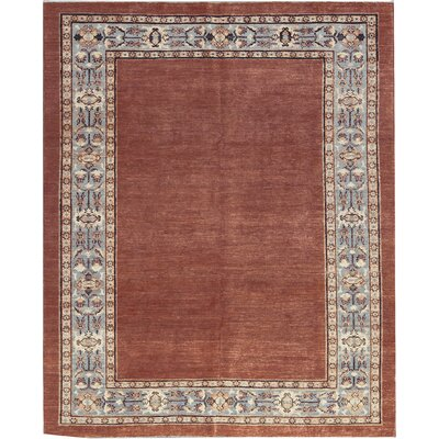 One-of-a-Kind Zarbof Hand-Woven Wool Rust/Blue Area Rug