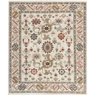 One-of-a-Kind Templeton Hand-Woven Wool Beige Area Rug