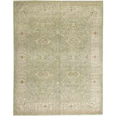 One-of-a-Kind Hand-Woven Wool Olive Green Area Rug
