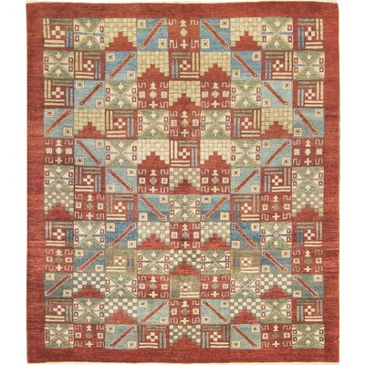One-of-a-Kind Zarbof Hand-Woven Wool Orange/Beige Area Rug