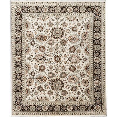 One-of-a-Kind Hand-Woven Wool Beige/Taupe Area Rug