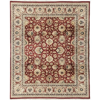 ne-of-a-Kind Veg Dye Hand-Woven Wool Red/Ivory Area Rug