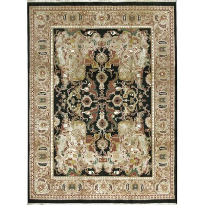 One-of-a-Kind Indo Hand-Woven Wool Gold/Ivory Area Rug