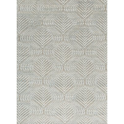 One-of-a-Kind La Ciel Hand-Woven Silver Area Rug
