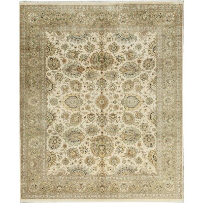 One-of-a-Kind Veg Dye Hand-Woven Wool Beige Area Rug