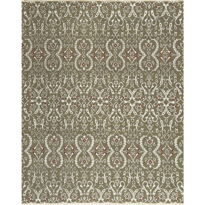 One-of-a-Kind Sumak Hand-Woven Wool Gray Area Rug