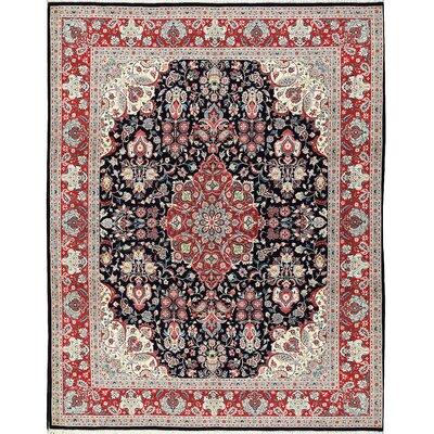 One-of-a-Kind Hand-Woven Wool Blue Area Rug
