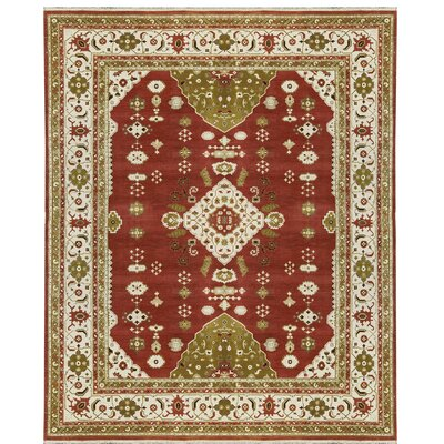 One-of-a-Kind Trinity Hand-Woven Wool Rust/Ivory Area Rug