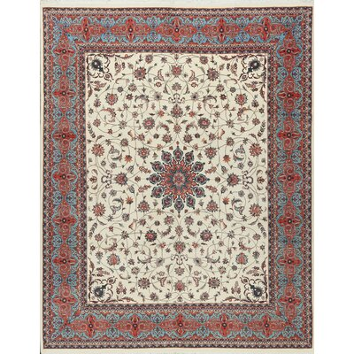 One-of-a-Kind Wool Beige/Red Area Rug
