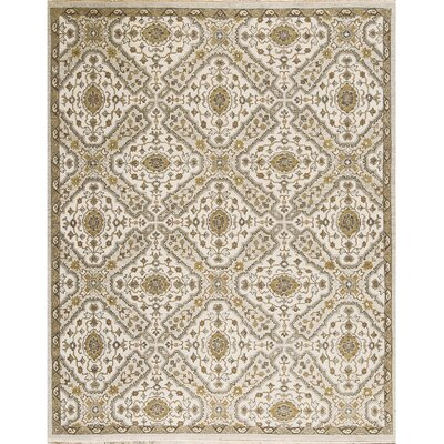 One-of-a-Kind Sumak Hand-Woven Wool Ivory/Gray Area Rug