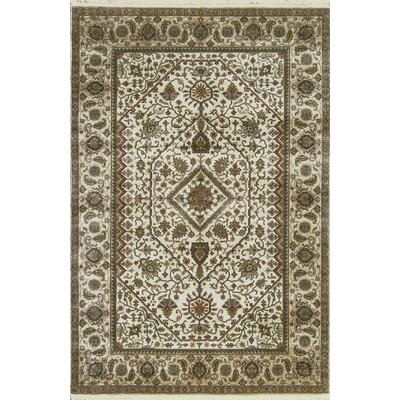 One-of-a-Kind Mountain King Hand-Woven Wool Cream/Camel Area Rug