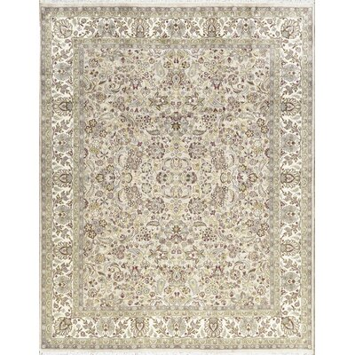 One-of-a-Kind Hand-Woven Wool Taupe/Ivory Area Rug