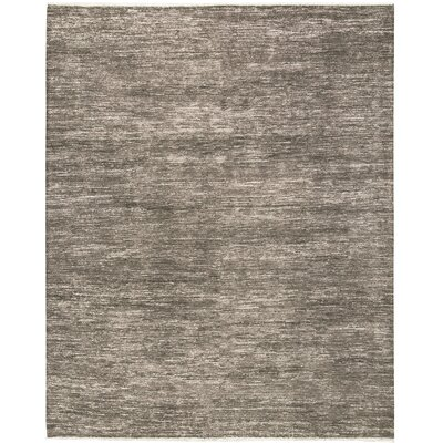 One-of-a-Kind Gabbeh Hand-Woven Wool Brown/Ivory Area Rug
