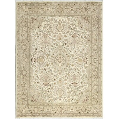 One-of-a-Kind Hand-Woven Wool Ivory/Beige Area Rug