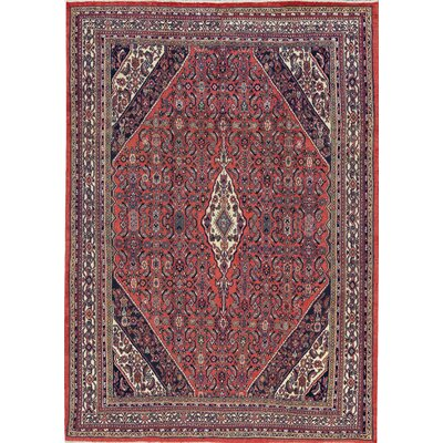 One-of-a-Kind Persian Hand-Woven Wool Rust/Ivory Area Rug
