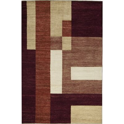 One-of-a-Kind Gabbeh Hand-Woven Wool Beige/Orange Area Rug