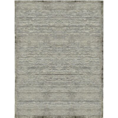 One-of-a-Kind Himalayan Hand-Woven Gray Area Rug