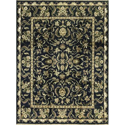 One-of-a-Kind Magnolia Hand-Woven Wool Black/Green Area Rug