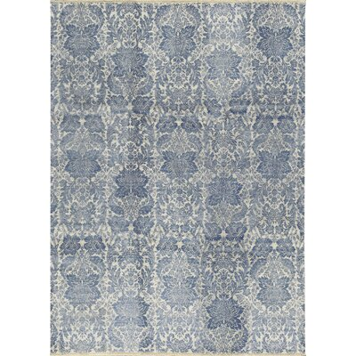 One-of-a-Kind Hand-Woven Gray/Blue Area Rug