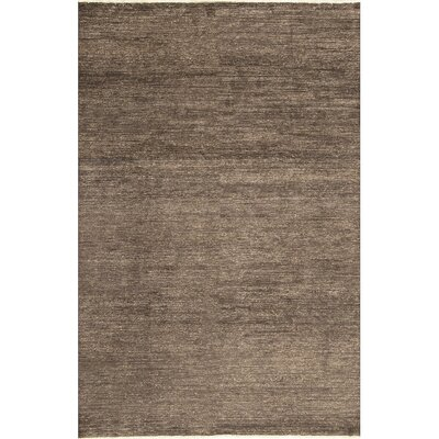 One-of-a-Kind Gabbeh Hand-Woven Wool Brown Area Rug