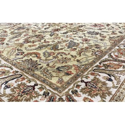 One-of-a-Kind Hand-Woven Wool Gold/Ivory Area Rug