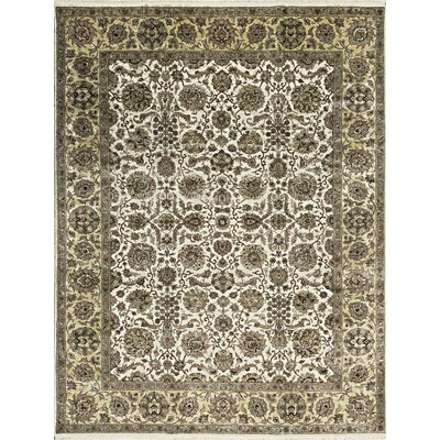 One-of-a-Kind Mountain King Hand-Woven Wool Ivory/Gold Area Rug